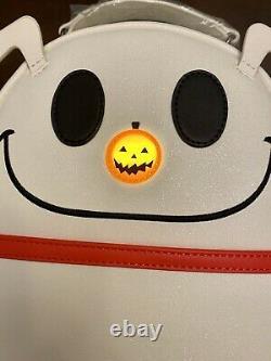Loungefly Disney Nightmare Before Christmas Zero Glitter Light Up Backpack NWT