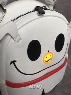 Loungefly Disney Nightmare Before Christmas Zero Light Up Sparkle Mini Backpack