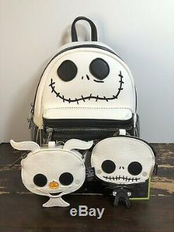 Loungefly Disney The Nightmare Before Christmas Backpack Coin Purse 3 Set NWT