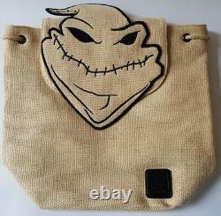 Loungefly Disney The Nightmare Before Christmas Oogie Boogie Burlap Backpack Bag
