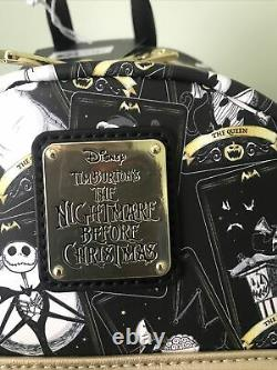 Loungefly Disney The Nightmare Before Christmas Tarot Card Aop Mini Backpack V2