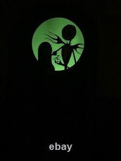 Loungefly Nightmare Before Christmas Jack & Sally Mini Backpack Glow In The Dark