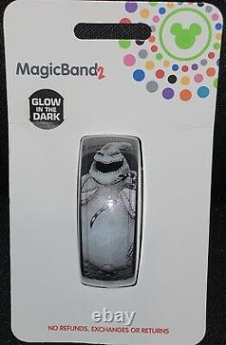 NEW Disney Magic Band 2.0 Nightmare Before Christmas Oogie Boogie Glows in dark
