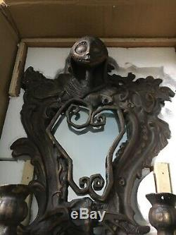 NEW Disney Nightmare Before Christmas Cast Iron Sally Wall Mirror Candle Holder