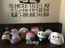 NWT HALLOWEEN Nightmare Before Christmas Squishmallows LOT of 8 12 SQUISHMALLOW