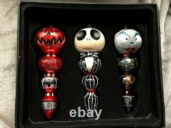 Nightmare Before Christmas Blown Glass Ornaments