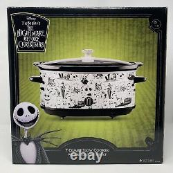 Nightmare Before Christmas Disney 7 Quart Slow Cooker Crock Pot Jack Skellington