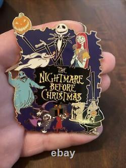 Nightmare Before Christmas Disney Auction Le100 Jumbo Pin Cast Jack Sally Zero