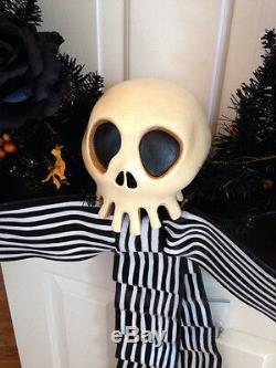 Nightmare Before Christmas Disney Haunted Mansion Holiday Skull Wreath