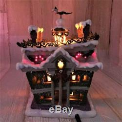 Nightmare Before Christmas Halloween Village Light Up Statue Figure Jack & Sally