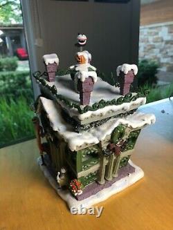 Nightmare Before Christmas Haunted Mansion Holiday Light Up House NIB