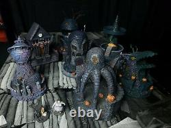 Nightmare Before Christmas Hawthorne Village 2005 Collectibles Lot Of 9 As Is