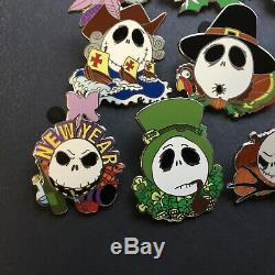 Nightmare Before Christmas Jack Skellington Holiday Set of 10 Disney Pin 57266