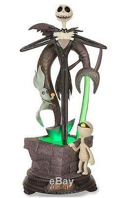 Nightmare Before Christmas Jack Skellington Illuminated Fountain And Figure