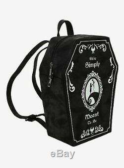 Nightmare Before Christmas Meant to Be Coffin Backpack Purse Matching Wristlet