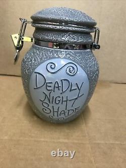 Nightmare Before Christmas Sally Deadly Night Shade Jar Decanter Disney NIB New