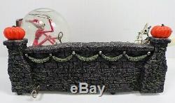 Nightmare Before Christmas Santa Jack Skellington Sleigh Snow Globe Disney RARE