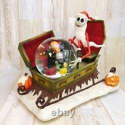 Nightmare Before Christmas Santa Jack Vampire Snow Globe Music Box Disney
