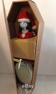 Nightmare Before Christmas Santa Sally in Gold Coffin Collection Doll