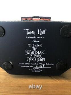 Nightmare Before Christmas Village Black Light Town Hall, Witch, Finkelstein