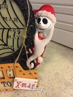 Rare Disney Nightmare Before Christmas Countdown Decorative Piece X-Mas Santa