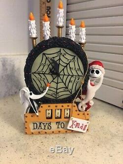 Rare Disney Nightmare Before Christmas Countdown Decorative Piece X-Mas Santa