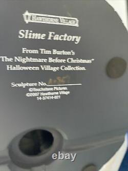Rare Hawthorne Village Disney Nightmare Before Christmas Slime Factory New