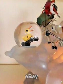 Rare Mib Disney Nightmare Before Christmas Snowglobe Jack Sleigh 2004 Le 350 500