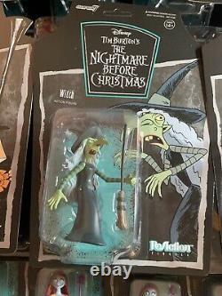 Super7 2020 Nightmare Before Christmas Reaction Action Figure Full Set disney
