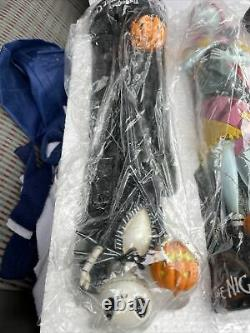 THE Nightmare Before Christmas Sally & Jack Skellington Zero Statue Figurines