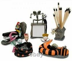 The Nightmare Before Christmas 5piece Desk Set Jack Skellington/Sally/Zero MIB