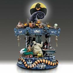 Tim Burton's The Nightmare Before Christmas Rotating Musical Carousel Sculpture