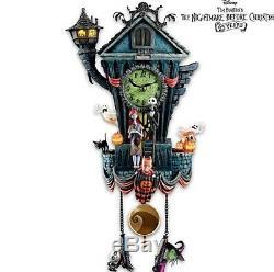 Tim Burtons Nightmare Before Christmas Cuckoo Clock Bradford Exchange- NEW