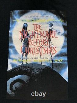 Vintage Disney NIGHTMARE BEFORE CHRISTMAS SHIRT Tim Burton Movie Promo Tee sz XL
