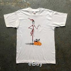 Vintage Nightmare Before Christmas Jack Skellington Disney Movie Promo T Shirt