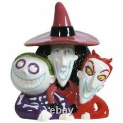 WESTLAND Disney Nightmare Before Christmas Lock & Shock & Barrel Cookie Jar F/S
