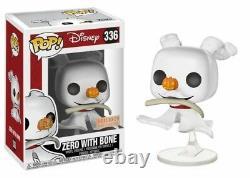 Zero with Bone The Nightmare Before Christmas POP! Disney #336 Vinyl Figur Funko